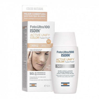 ISDIN Fotoprotector Fotoultra 100 Active Unify Fusion Fluid Color SPF50+ 50ML