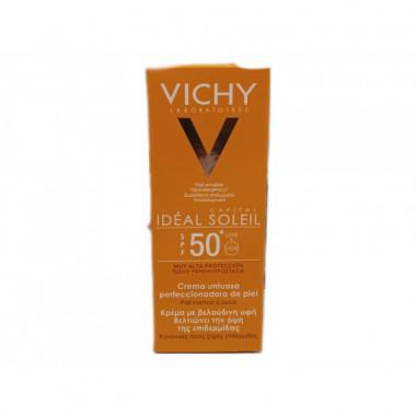 VICHY Ideal Soleil Crema Untuosa Perfeccionadora de la Piel Spf 50+ 50ML