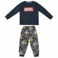 Pijama Largo Interlock Marvel  DISNEY