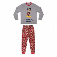 Pijama Largo Single Jersey Mickey  DISNEY