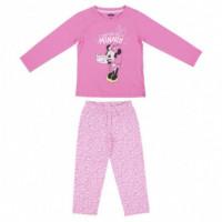 Pijama Largo Single Jersey Minnie  DISNEY
