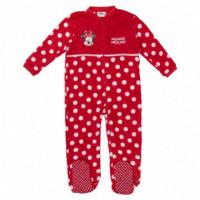Pijama Dormilon Coral Fleece Minnie  DISNEY
