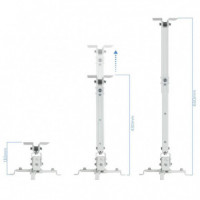 Soporte Proyector TOOQ Techo Inclinable White