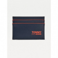 TOMMY HILFIGER Tarjetero Recycled Leather AM0AM06652