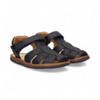 Sandalia Velcro Piel Marino  CAMPER