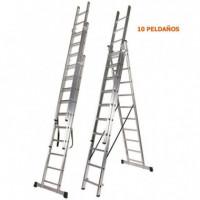 Escalera Aluminio 3 Tramos 3X10 AIRMEC
