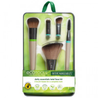 Daily Essentials Total Face Fit - Intercambiables: Set Brochas Rostro ECOTOOLS