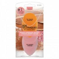 Mcs+mps - Pack 2 Esponjas: Esponja Maquillaje + Esponja Velvet REAL TECHNIQUES