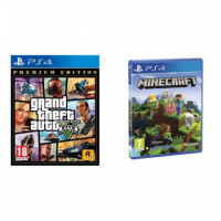 Pack Gta V + Minecraft PS4  TAKE TWO