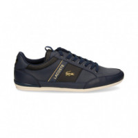 Deportivo Blanco Lateral Navy  LACOSTE