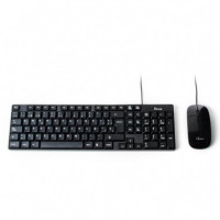 KIT TECLADO+ RATON CON CABLE USB L-LINK