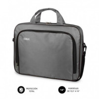 "MALETÍN ORDENADOR OXFORD LAPTOP BAG 13,3""-14"" GREY SUBBLIM"