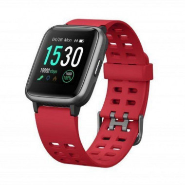 RELOJ INTELIGENTE MULTISPORT FIT 814 ROJO PANTALLA COLOR 3.3CM BT5.0 LEOTEC