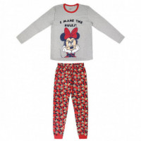 Pijama Largo Single Jersey Minnie