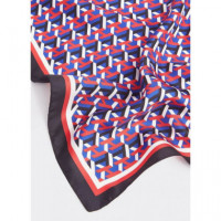 Th Cube Silk Bandana Multicolor  TOMMY HILFIGER