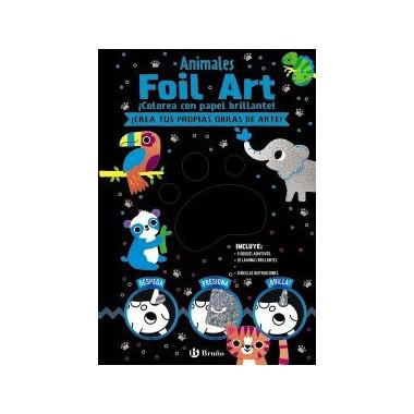 Foil Art Colorea con Papel Brillante Animales