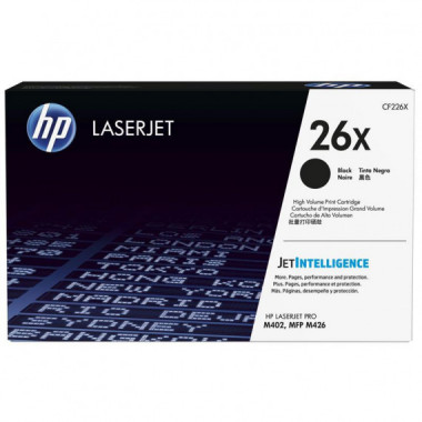 Toner HP26X CF226X Black 9000 Copias  HP
